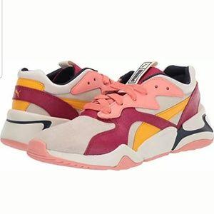 Puma Nova Suede Casual Shoes Whisper White/Cerise